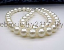 """AAA Genuine 10-11mm natural Akoya white freshwater cultured pearl necklace 18"""""""
