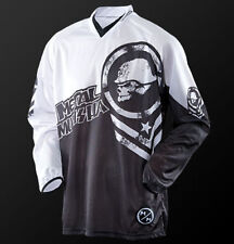 S Small Metal Mulisha Optic MX Jersey Motorbike BMX Black White