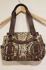Kathy Van Zeeland Animal Print Brown Gold Tote Handbag