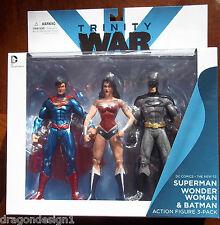 DC COMICS TRINITY WAR ACTION FIGURE 3-PACK. SUPERMAN, WONDER WOMAN, BATMAN