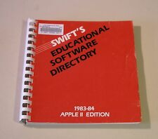 VERY RARE Book on Educational Software for the Apple II Plus, IIe, IIc, IIGS