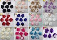 Big Satin Ribbon Rose Hair Flower Craft Wedding Appliques Lots U Pick  DIY