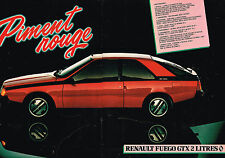 PUBLICITE ADVERTISING 044  1981  RENAULT   FUEGO GTX 2L  PIMENT ROUGE ( 2 pages)