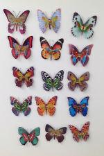 15 Stück doppelt-lagig Design 2 Schmetterlinge mit Magnet Kühlschrankmagnet