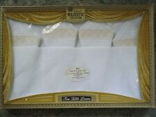 NIP Vtg Majestic Fine Table Linens RAYON 52x52 TABLECLOTH & 4 NAPKINS SET Lace