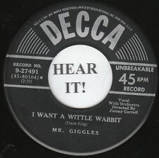 Mr. Giggles EASTER45-Decca 27491-I Want a Wittle Wabbit/My Funny-Sunny-Honey- M-