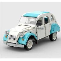Citroen 2CV Dolly Car auto static Brick Block Moc Technic Lego compatibile