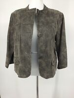 Leather Jacket XL Button Closure Preswick & Moore Women's Jacket