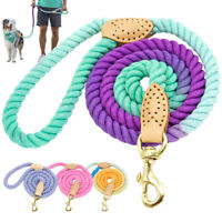 5ft Braided Cotton Dog Lead Adjustable Heavy Duty Strong Durable Rope Dog Leash