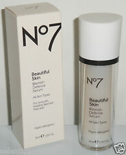 Boots No 7 Beautiful Skin Blemish Defence Serum - 1oz Full Sz / BRAND NEW BOXED