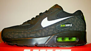 MENS BLACK WHITE GREEN NIKE AIR MAX 90 CASUAL RUNNING TRAINER BNIB UK SIZE 6 10