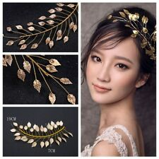 Charm Crown Women Tiara Gold Leaf Headband Bridal Headpieces Cinnamon