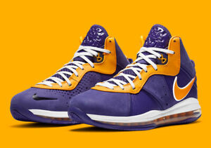 Nike LeBron 8 (PS) 'Lakers' Court Purple University Gold Kids Shoes [CT5114-500]