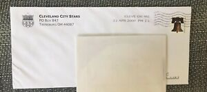 2009 Defunct Cleveland City Stars Mailing Envelope⚽️⚽️