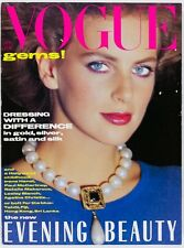 Laetitia Firmin-Didot MADAME ROCHAS 80s fashion TESSA DAHL vtg UK VOGUE MAGAZINE