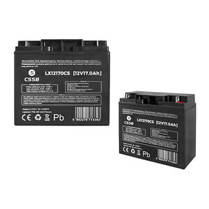 Gel Battery Rechargeable 12V 17Ah AGM 20hr Also for 18Ah 19Ah 20Ah Leak Free UK
