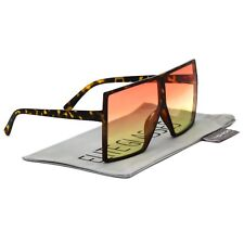 Oversized XXL Flat Top Huge Big SHIELD Style Square Sunglasses Men Women Retro