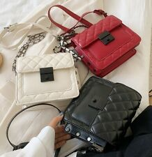 Shoulder Bag For Woman Solid Color Rhombus Form Small Fragrance Lady Chain Bag