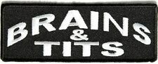 Brains & Tits Funny Ladies Biker Chick Hilarious MC Club Quality Patch PAT-2623