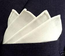 Plastron messieurs Blanc - 100% lin-handmade in Germany