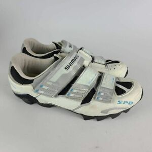 Shimano Womens Pedaling Dynamics Cycling Shoes Cleats White WM60 Hook Loop 9.5 M