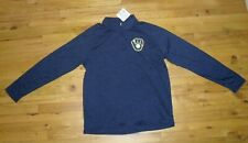 NWT Men's Milwaukee Brewers Majestic Navy Blue Pullover Long-Sleeve Shirt Sz XL