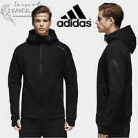 adidas Z.N.E Men's Track Hoodie ZNE Black Sports Hooded Full Zip Sweatshirt
