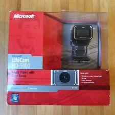 Microsoft LifeCam HD-5000 720p HD Webcam Camera -  Black