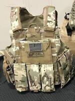 Multicam Tactical Vest Plate Carrier- Adjustable