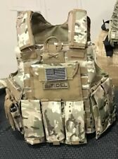 Multicam Tactical Vest Plate Carrier With Plates- curved
