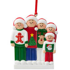 Family Sweater Ornament, Family of 5