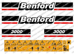 BENFORD 3000 DUMPER DECALS