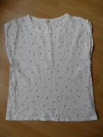 Esprit T-Shirt Gr. XS / 34 weiß mit Muster