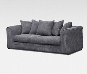 *** BRAND NEW*** Luxor Modern Grey Fabric Corner Sofa Cheap LEFT & RIGHT 3 or 2