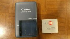 GENUINE OEM CANON BATTERY CHARGER CB-2LV G FOR NB-4L INCLUDES BATTERY USED