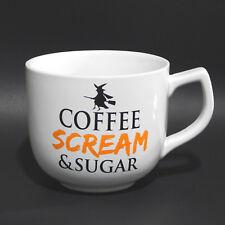 Coffee Scream & Sugar Witch Halloween Ceramic Oversized LG Jumbo Mug Cup 27 oz