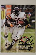 MARTY BOOKER Chicago Bears LA-Monroe Signed Autographed 2002 Schedule 16G