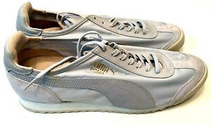 PUMA ROMA LUXE NYLON Mens Sz 12 Gray Lace Up Athletic Sneaker 352921 NEW Fashion
