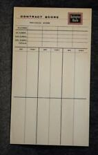 Vintage Burlington Route Contract Bridge Score Pad MINT