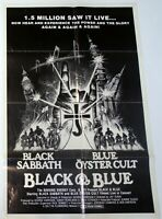 Black Sabbath Blue Oyster Cult Poster Black and Blue Film 1981