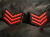 OZ SET OF EPAULETTES SHOULDER SARGENT RED AND BLACK