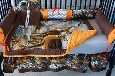 Buck deer  real tree Camo   Baby bedding set-free personalized pillow