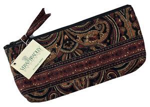 Vera Bradley Brush and Pencil Cosmetic Bag in Mocha