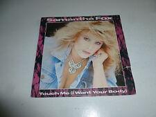 "SAM FOX - Touch Me (I want your body) - Scarce 1986 UK 2-track 7"" vinyl SIngle"