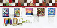 Norfolk Island 2014 FDC Quilts 5v Set Cover Art Design Stamps