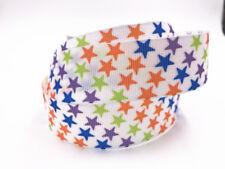 DIY 1-100 Yard 1'' 25MM little stars Printed Grosgrain Ribbon Hair Bow Sewing