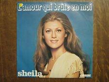SHEILA 45 TOURS FRANCE L'AMOUR QUI BRULE EN MOI
