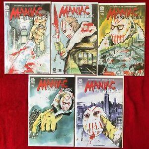 MANIAC OF NEW YORK    1  2 3 4 5 SET -  2021  - AFTERSHOCK  COMICS