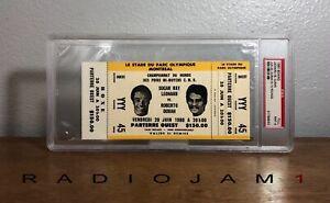1980 Boxing Sugar Ray Leonard vs Roberto Duran Full Ticket PSA 9 MINT