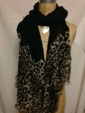 "Ralph Lauren Animal Print Scarf  70"" x 40"" 4JS024 Black 200 NWT and Pulls"